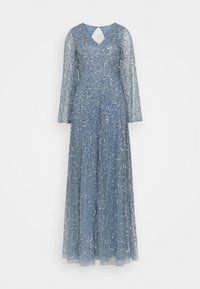 Maya Deluxe - LONG BELL SLEEVE ALL OVER DRESS WITH CUT OUT BACK - Gallakjole - dusty blue - 5