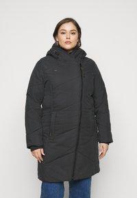 Ragwear Plus - GORDON LONG PLUS - Zimní kabát - black - 2