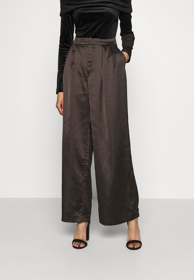 MINA TROUSERS - Pantalon classique - black