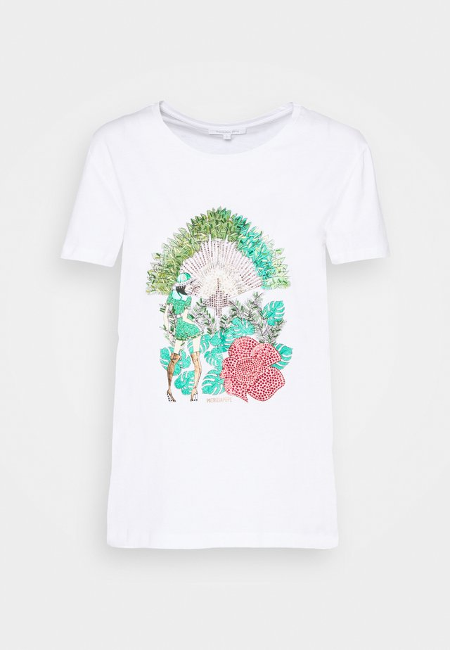 MAGLIA - T-shirt con stampa - bianco/jungle