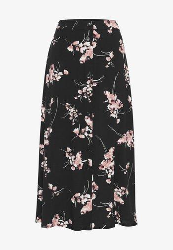 A-line skirt - black mix