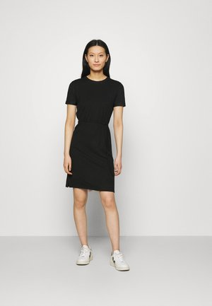 SHORT LOGO TEE DRESS - Jerseykjole - black