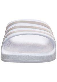 adidas Performance - ADILETTE AQUA SWIM - Sandali da bagno - footwer white / platin metallic - 6