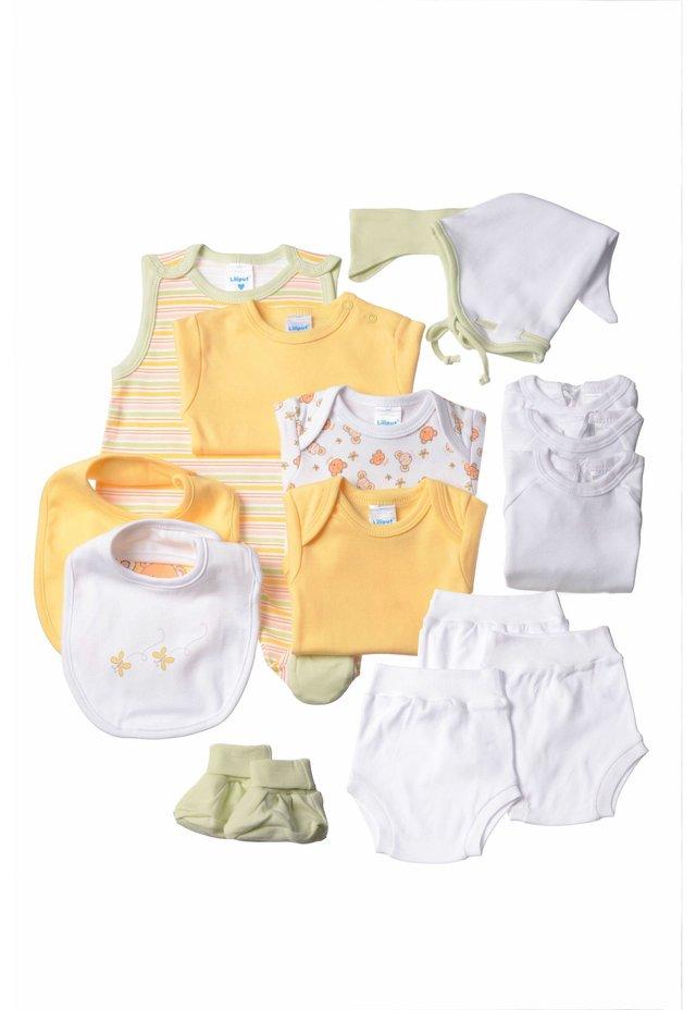 STARTERPAKET IM 15-TEILIGEN SET  - Pants - gestreift,weiss mit motivdruck,hellgrün,gelb