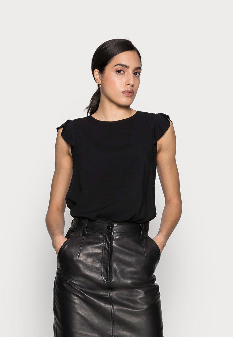 TOM TAILOR DENIM - Print T-shirt - deep black