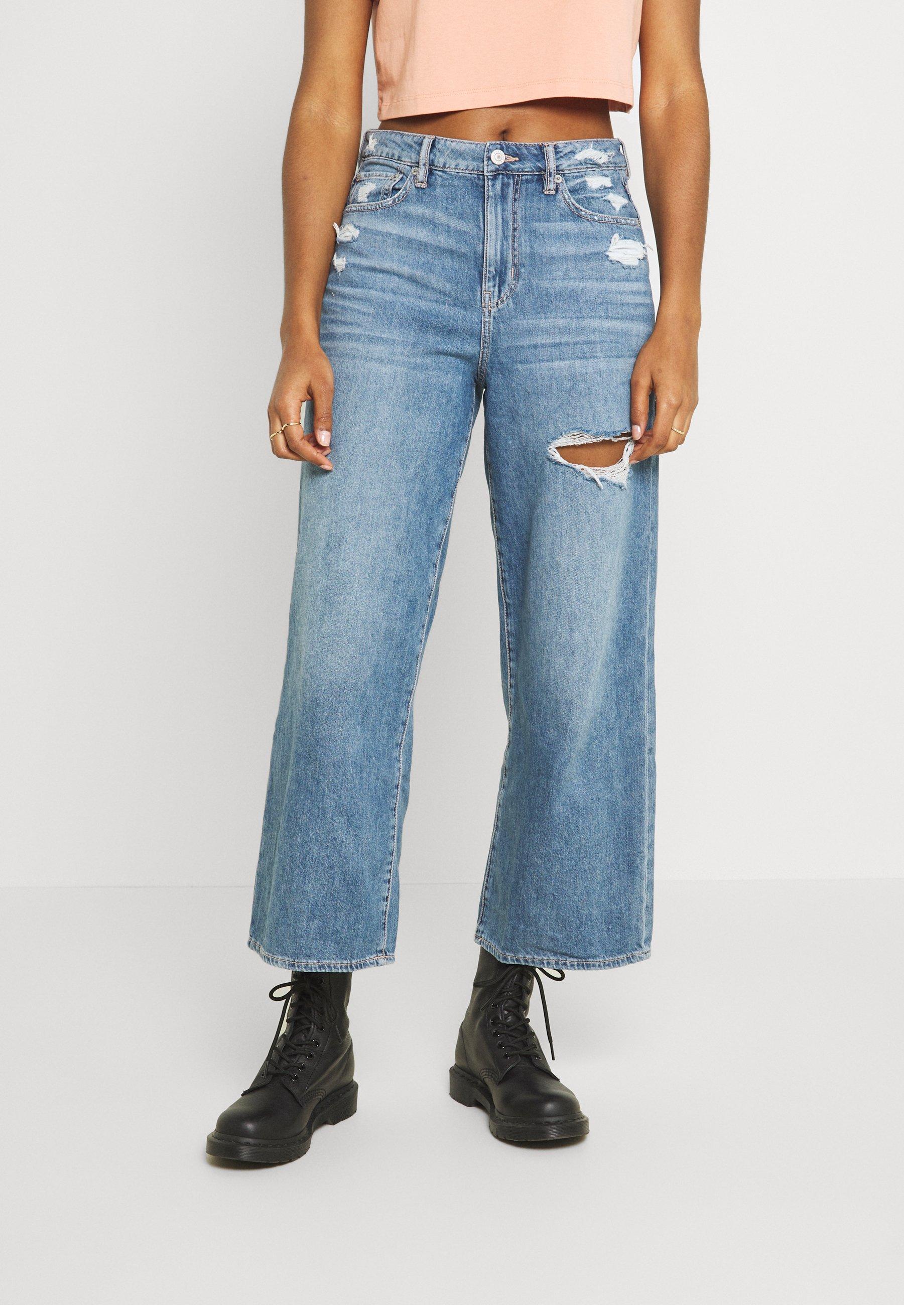 Women WIDE LEG CROP - Straight leg jeans
