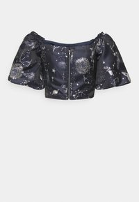 Missguided Tall - ASTRO PUFF SLEEVE CROP - T-shirts med print - navy - 1