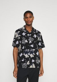 Calvin Klein Tailored - SHORT SLEEVE FLOWER PRINT  - Shirt - print / black - 0