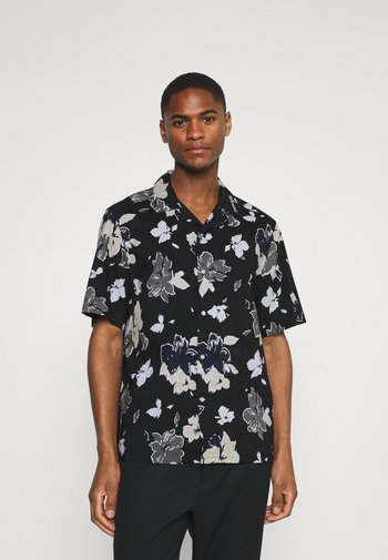 SHORT SLEEVE FLOWER PRINT  - Shirt - print / black
