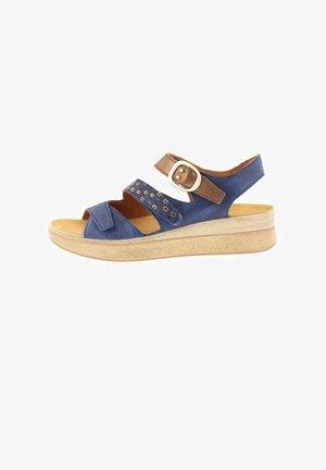 MEGGI - Wedge sandals - indigo/kombi