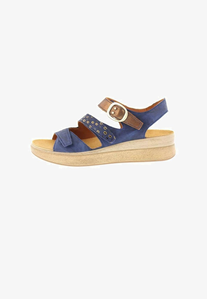 Think! - MEGGI - Wedge sandals - indigo/kombi
