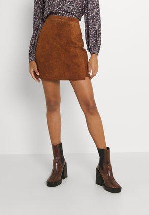 VICELINA SKIRT - Mini skirt - chestnut