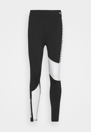 TRAIN FAVORITE LOGO HIGH WAIST - Tights - puma black/puma white