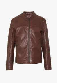 Strellson - BRIXTON - Leather jacket - cognac - 4