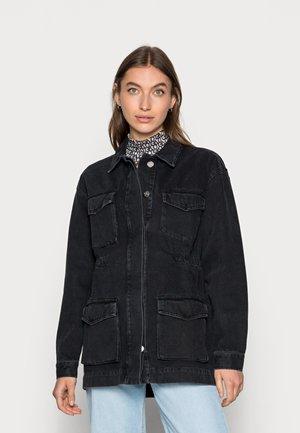 POWER JACKET - Denim jacket - grey
