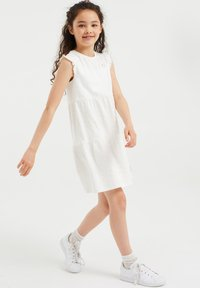 WE Fashion - Korte jurk - white - 1