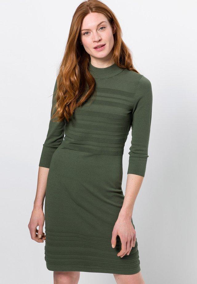 Gebreide jurk - dark basil