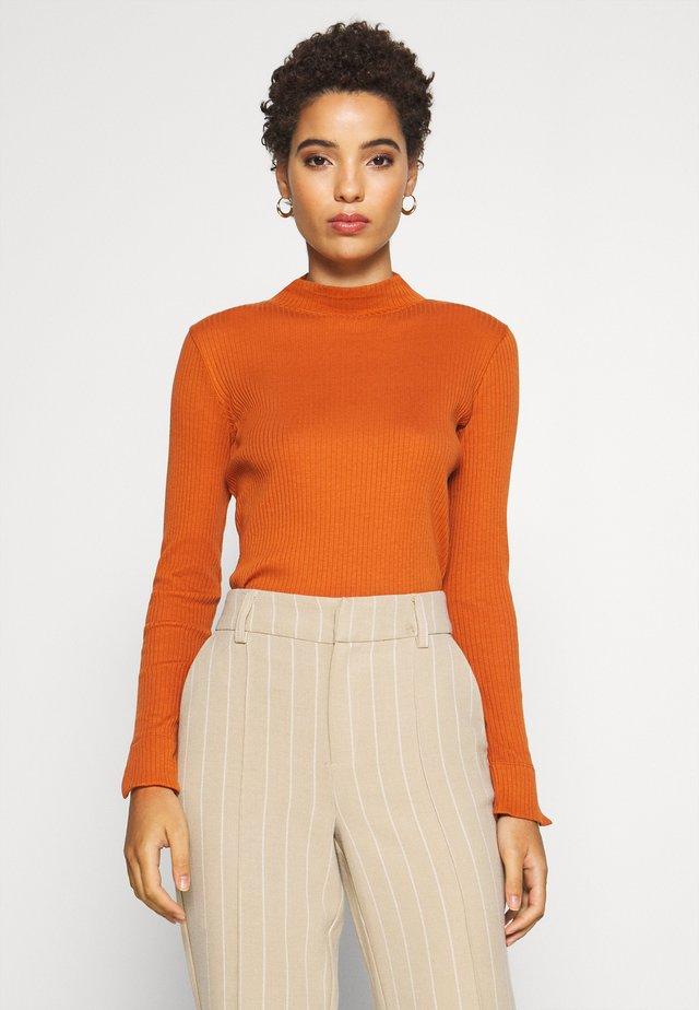 Long sleeved top - baked ginger orange