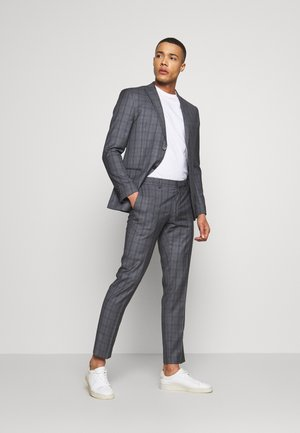 CHECK SUIT - Costume - grey