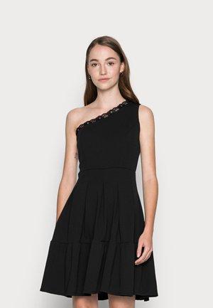 JANINE LACE TRIM SKATER DRESS - Koktejlové šaty/ šaty na párty - black