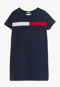 Tommy Hilfiger - FLAG DRESS  - Jerseyjurk - blue - 0