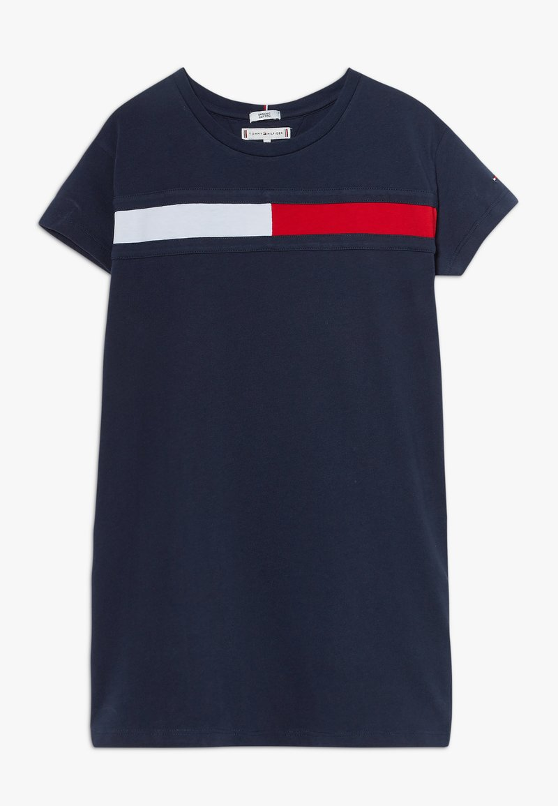 Tommy Hilfiger - FLAG DRESS  - Jerseyjurk - blue