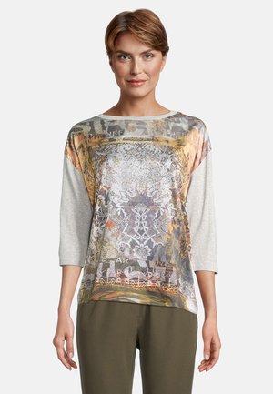 T-shirt à manches longues - grey/orange