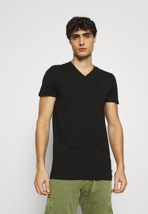 V NECK  - Basic T-shirt - black