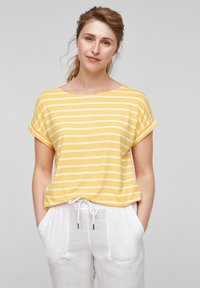 s.Oliver - Print T-shirt - sunset yellow stripes - 0