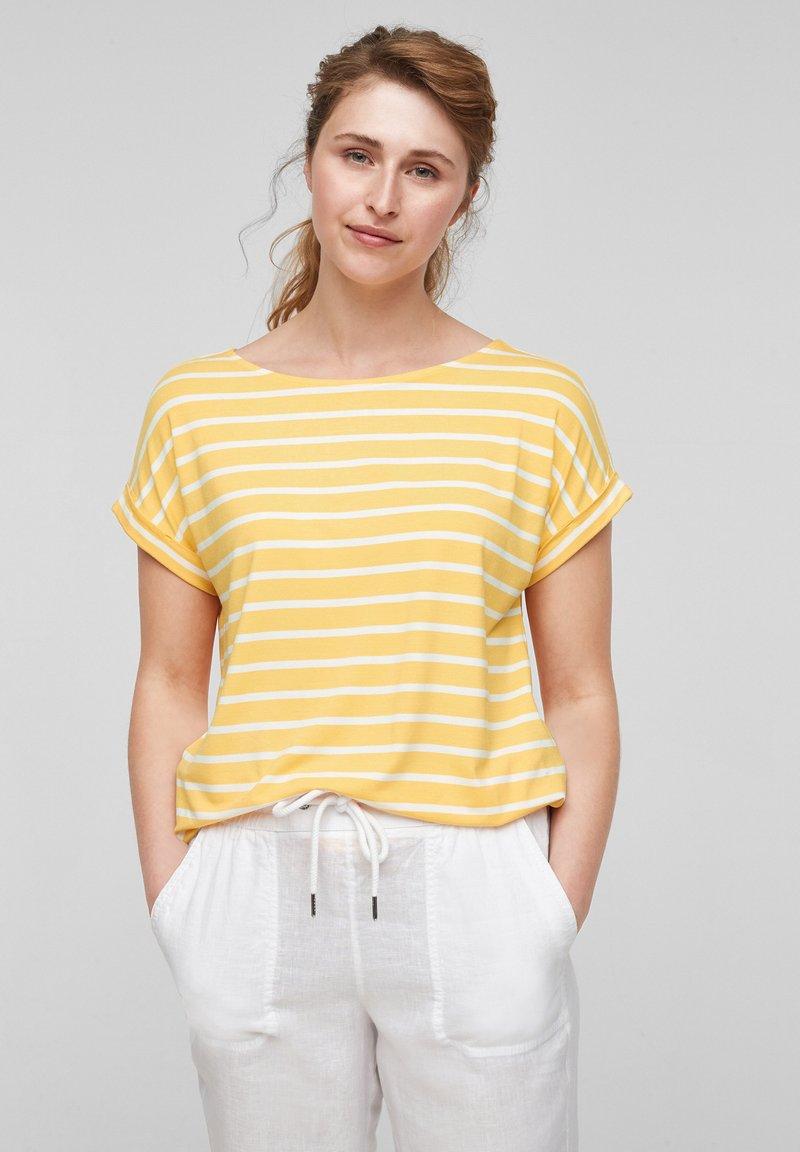 s.Oliver - Print T-shirt - sunset yellow stripes