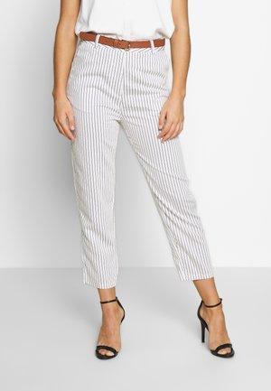PIFAGE - Kalhoty - off white/black
