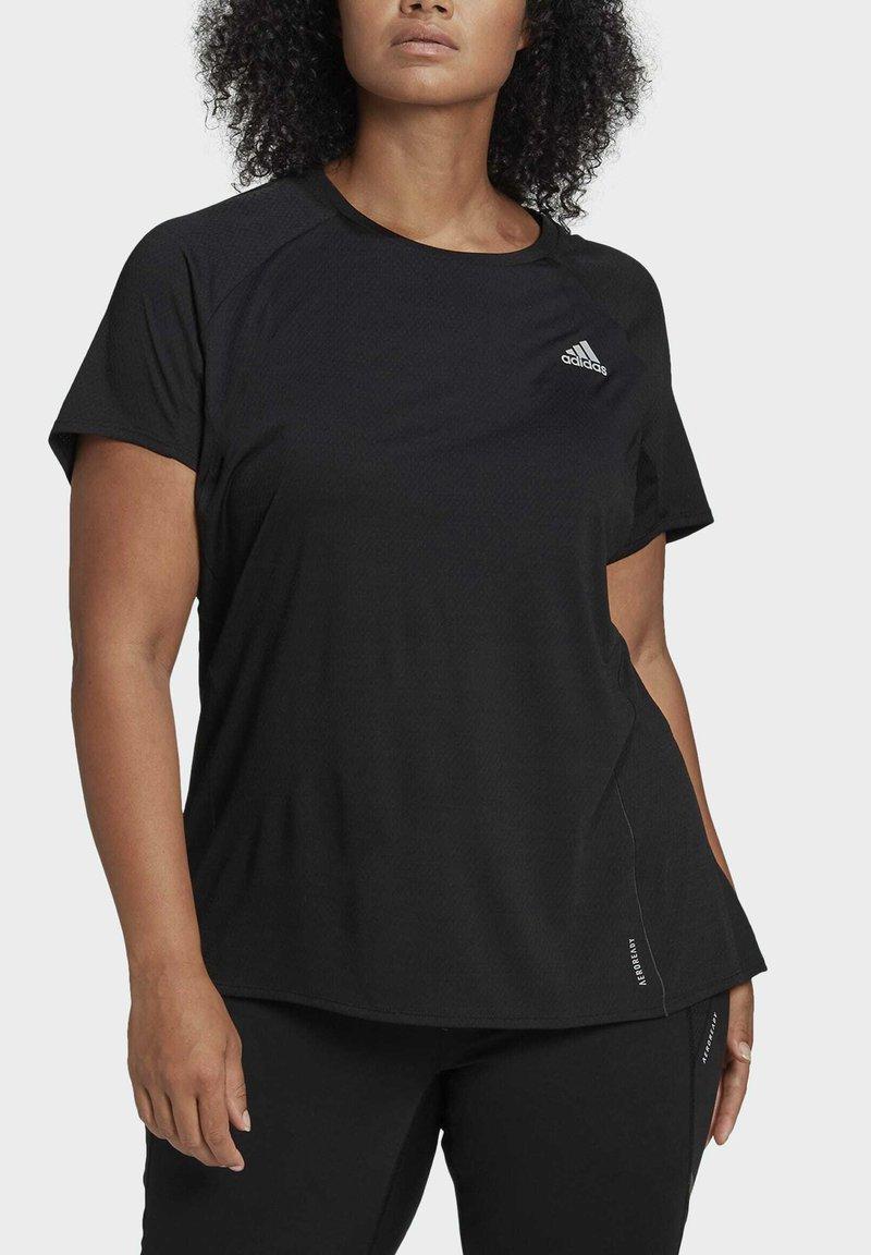 adidas Performance - ADI RUNNER TEE - Basic T-shirt - black