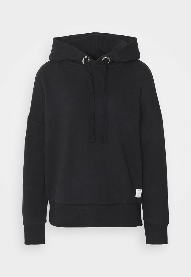 LONGSLEEVE HOODED - Collegepaita - black