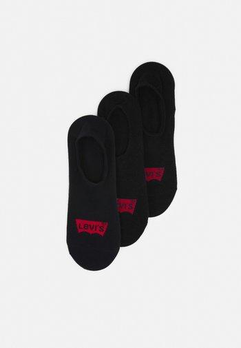 FOOTIE HIGH RISE BATWING LOGO 3 PACK - Trainer socks - jet black