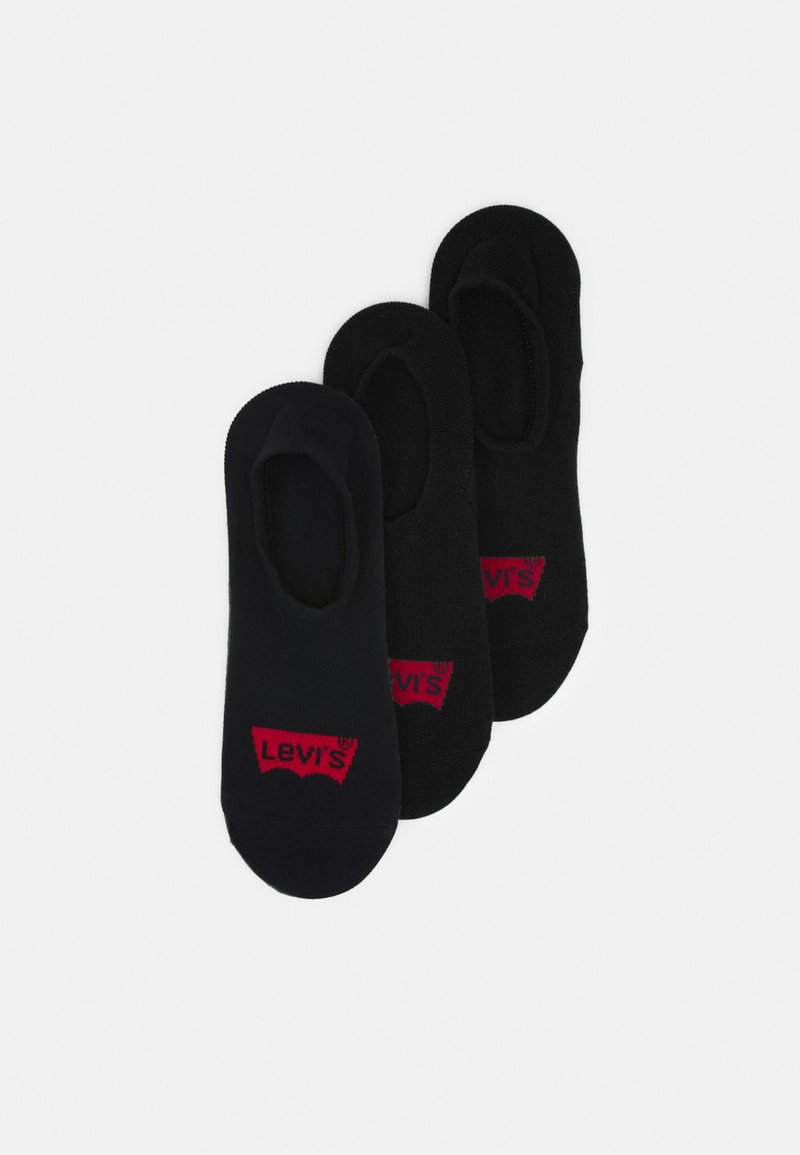 Levi's® - FOOTIE HIGH RISE BATWING LOGO 3 PACK - Trainer socks - jet black