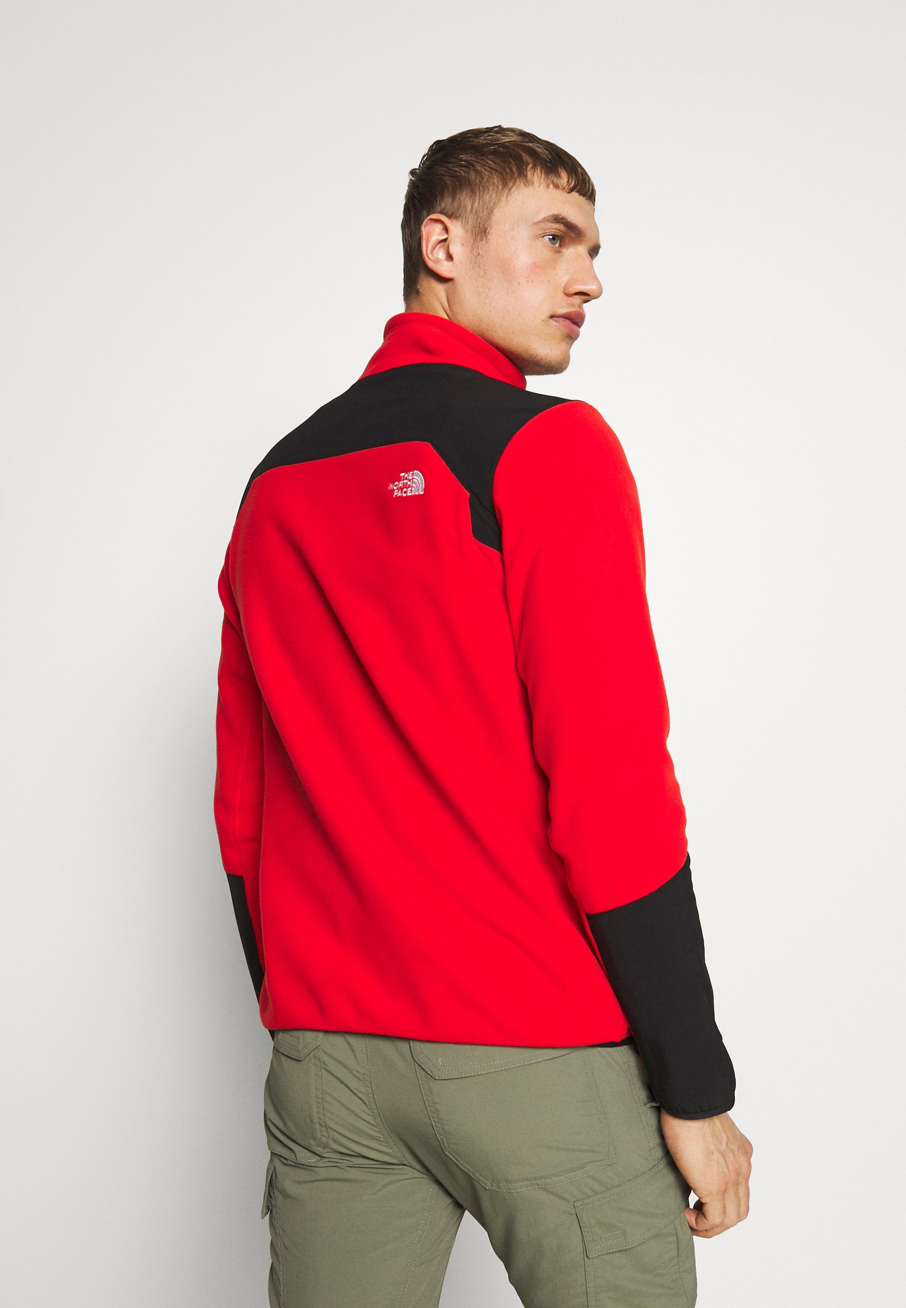 The North Face MENS GLACIER PRO 1/4 ZIP - Sweat polaire - fiery red/black