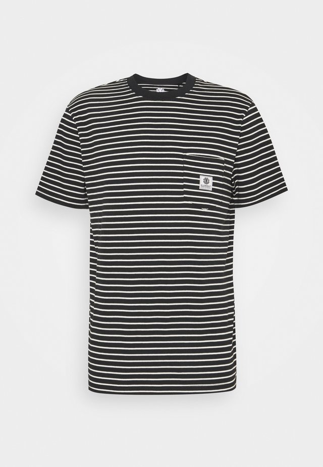 BASIC STRIPES - Print T-shirt - flint black