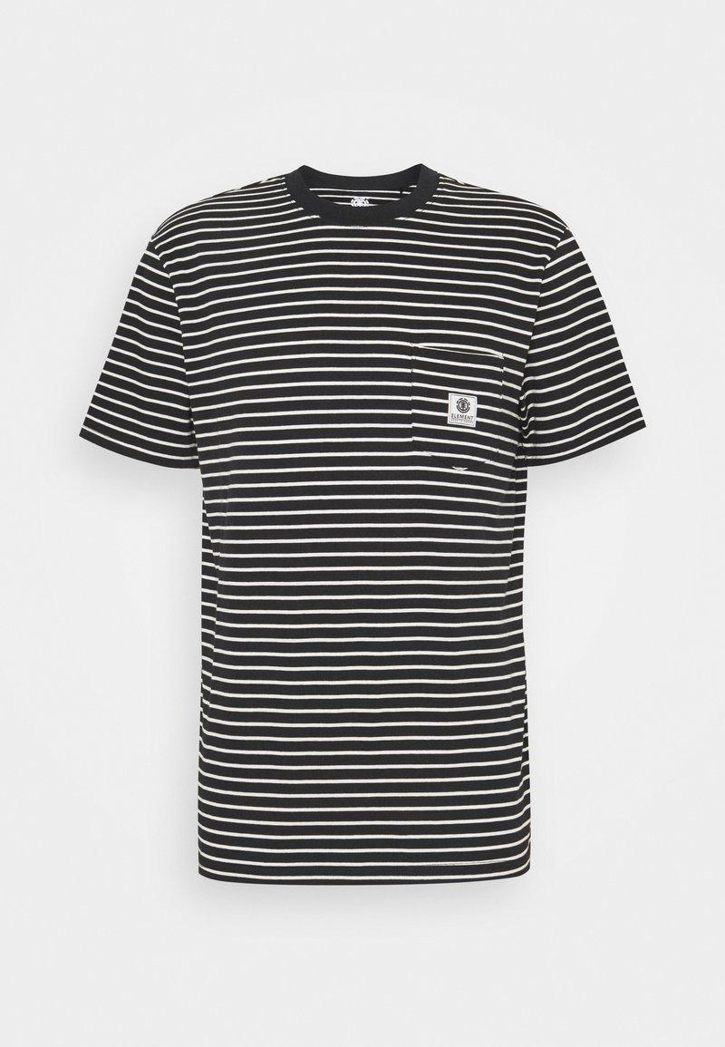 Element - BASIC STRIPES - Print T-shirt - flint black