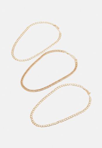 PCMALAU NECKLACE 3 PACK - Ketting - gold-coloured