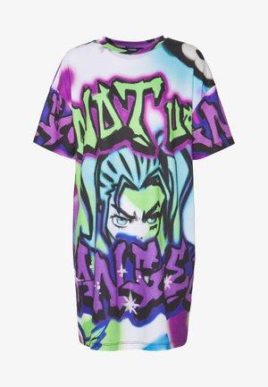 Žerzejové šaty - bright graffiti print