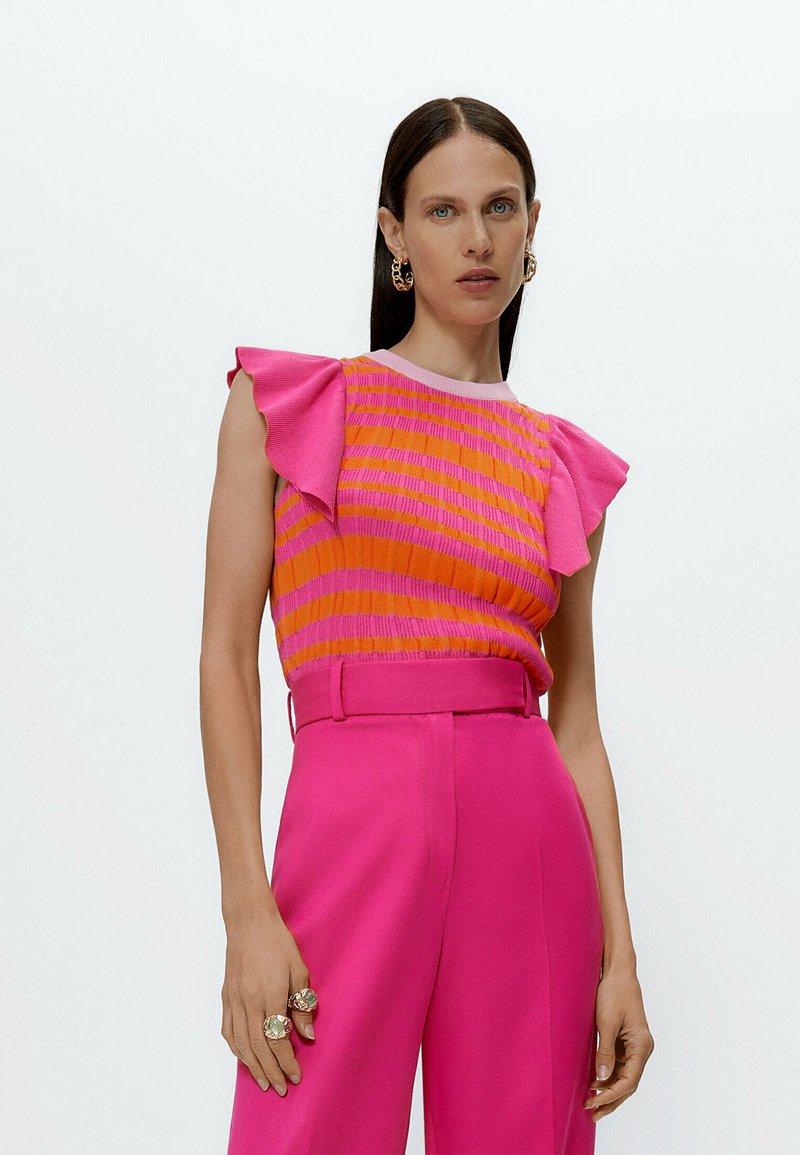 Uterqüe - Print T-shirt - pink