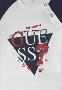 Guess - BABY - Long sleeved top - white/navy combo - 2