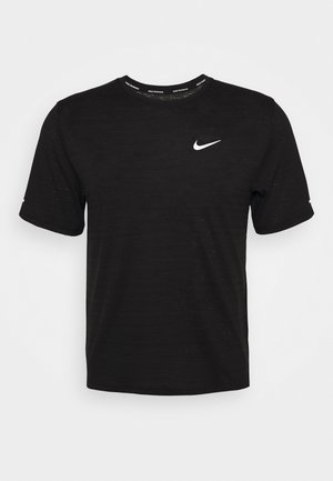 MILER  - T-shirt basique - black/silver