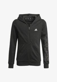 adidas Performance - ESSENTIALS - Zip-up sweatshirt - black - 0