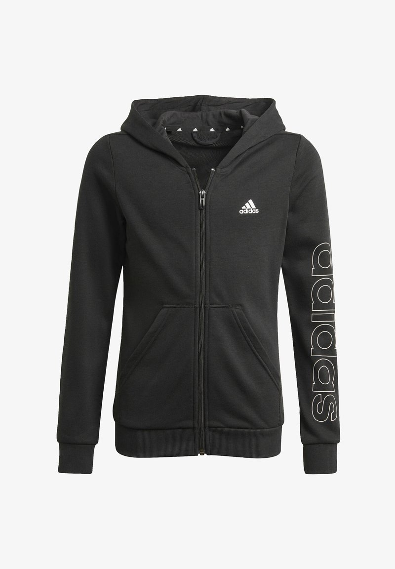 adidas Performance - ESSENTIALS - Zip-up sweatshirt - black
