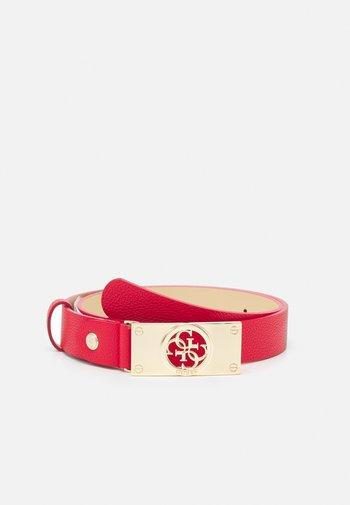 CARABEL ADJUSTABLE PANT BELT - Belt - red