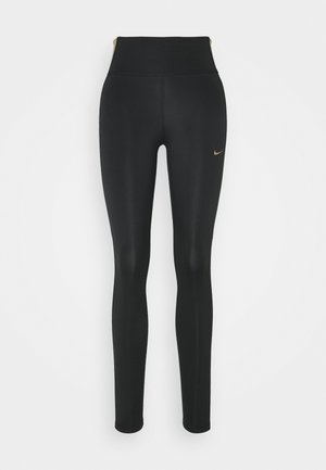 ONE COLORBLOCK - Tights - black/metallic gold