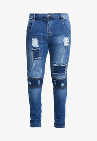 SIKSILK - PATCH  - Vaqueros pitillo - washed blue - 3