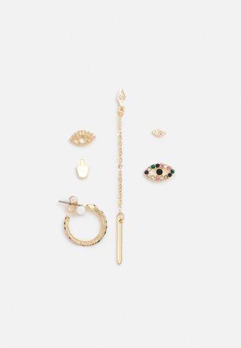 PCZINAT SOLO EARRINGS 6 PACK - Earrings - gold-coloured/multi