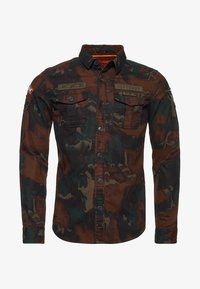 Superdry - MILITARY STORM - Shirt - brown - 4